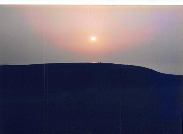鳥取砂丘の夕焼け