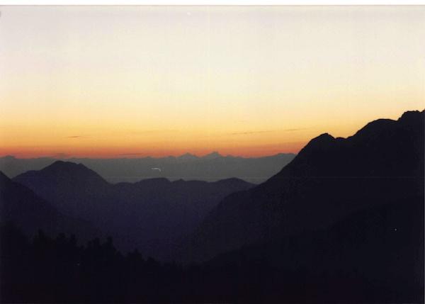 大滝山の山頂からの夕焼け
