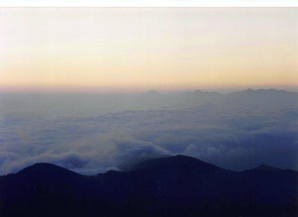 大滝山山頂から見る雲海