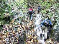 金剛山の妙見谷ルートで沢登り