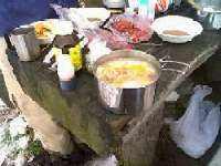 山ご飯は豚汁と焼肉