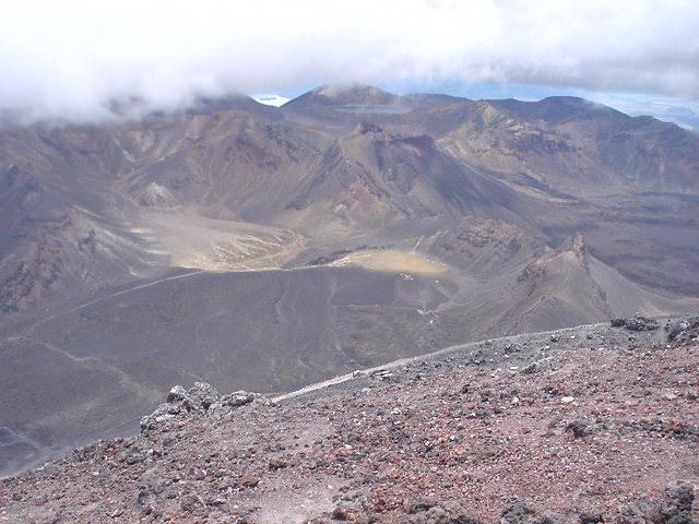 ナウルホウイ山頂からの景色 - NZトレッキング