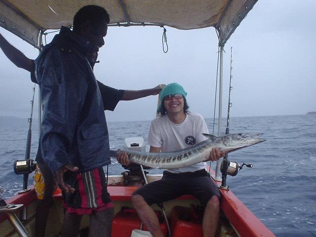 バヌアツで海釣り