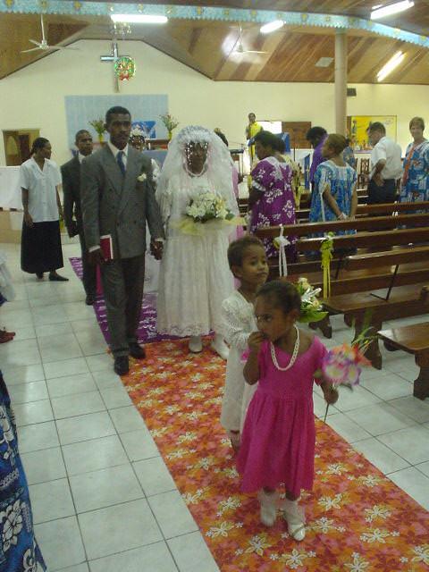 バヌアツ現地民の結婚式