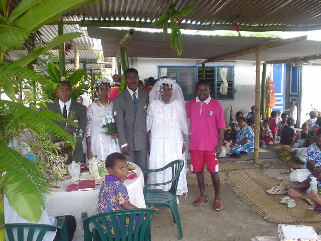 バヌアツ現地民の結婚パーティー