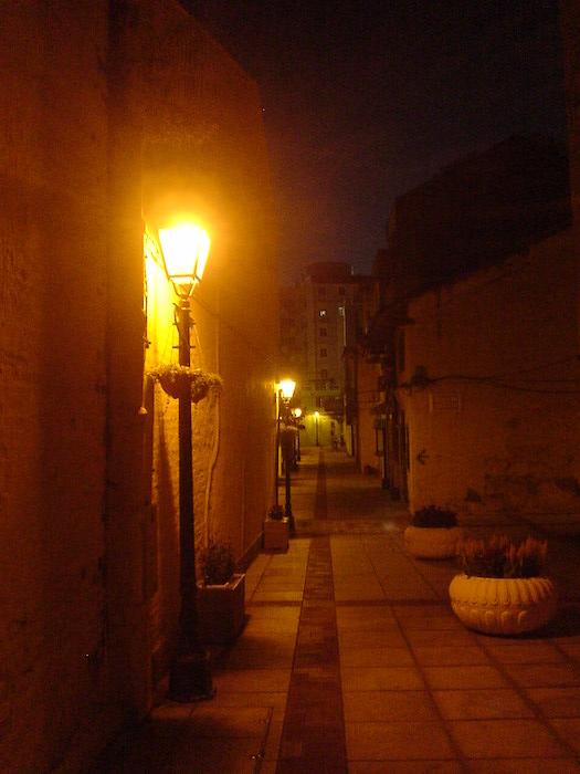 ポルトガル風な夜のマカオ