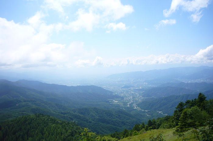 大菩薩嶺トレッキング 東山梨の景色