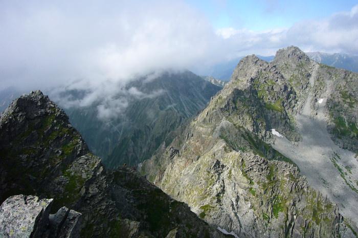 涸沢岳山頂からの景色