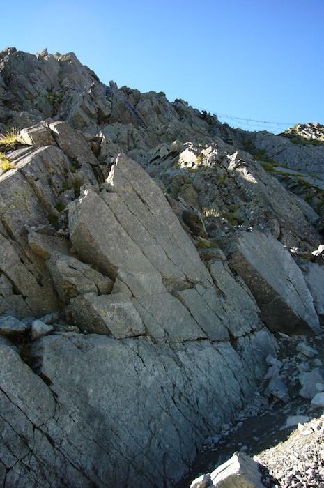 奥穂高岳への壁越え