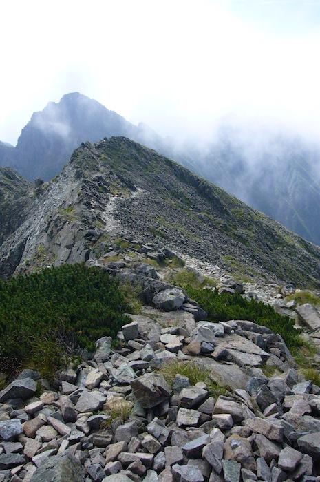 奥穂高岳から吊尾根