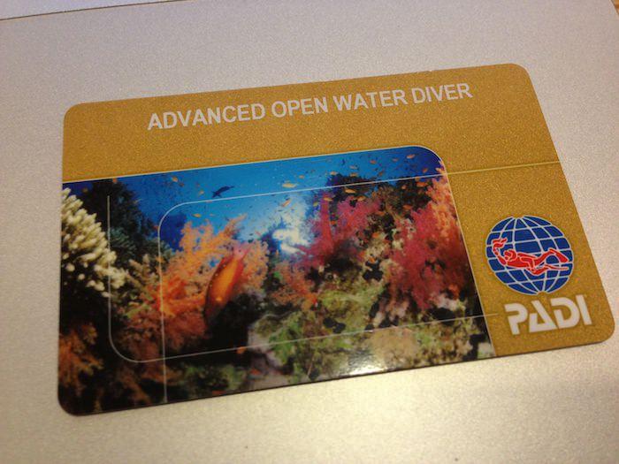 アドヴァンスド・オープン・ウォーターのライセンス取得