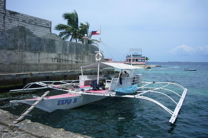 ダイビングショップ Blue Waterのボート