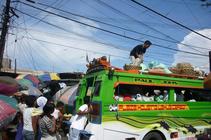 セブ島の市場の雰囲気