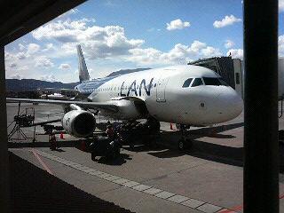リマからクスコへの飛行機