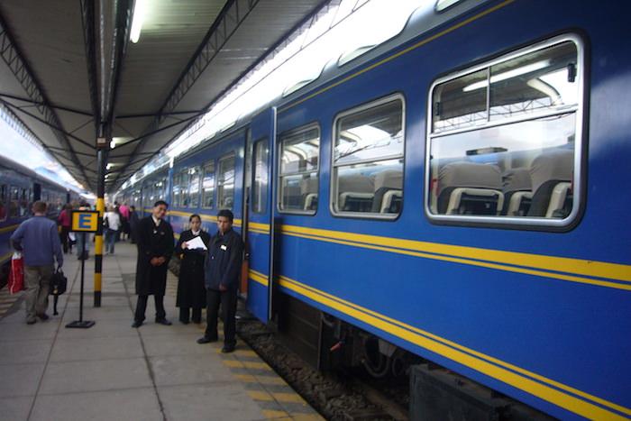 クスコからマチュピチュへの電車 VISTADOME