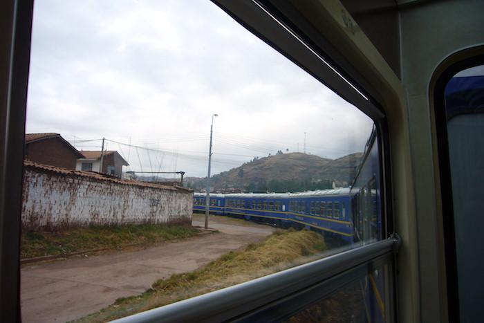 車窓から見るクスコ