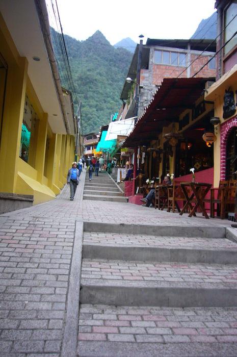 アグエス・カリエンテス村の階段を登ったところに宿泊先が