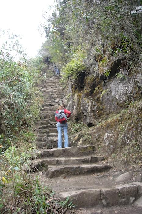 ワイナピチュへの急坂