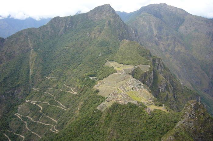ワイナピチュから見たマチュピチュ遺跡
