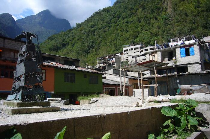 アグエス・カリエンテス村の住居エリア