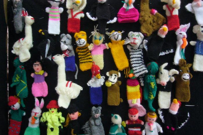 クスコおみやげの指人形