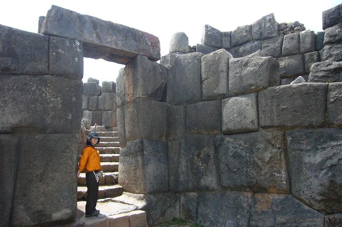 サクサイワマン要塞の入り口