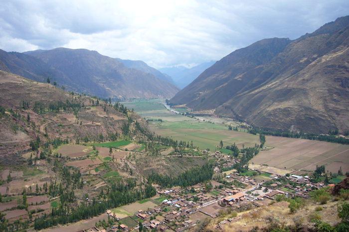 谷を見渡す絶景