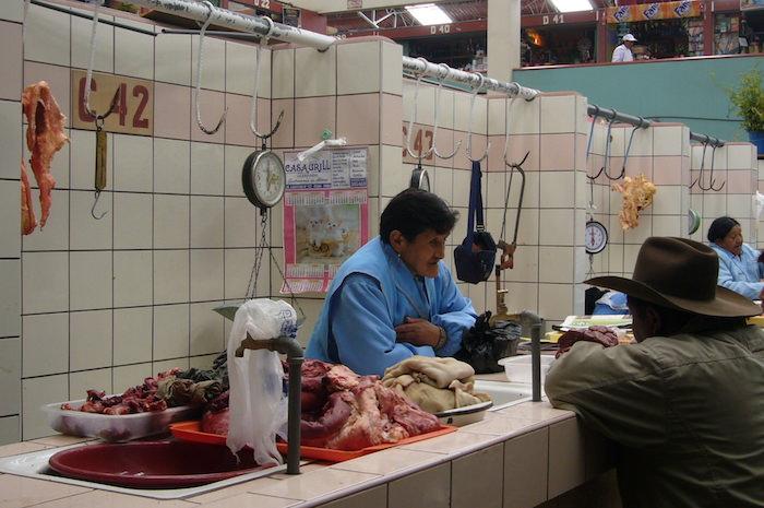 プーノの肉屋