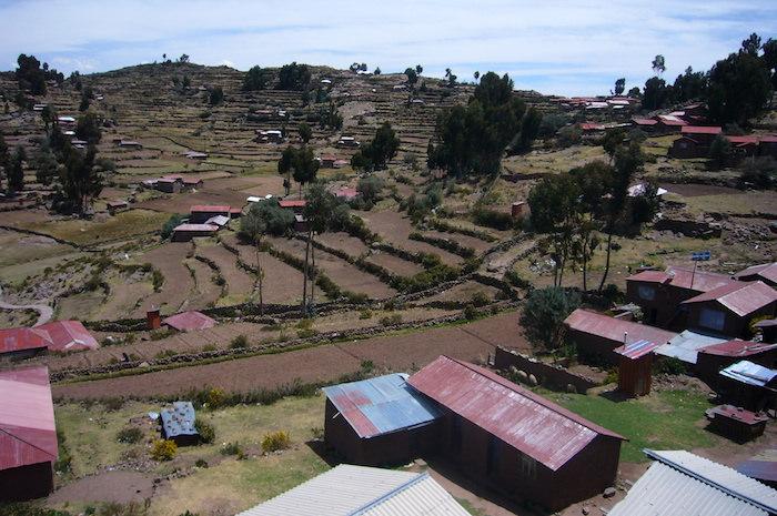 タキーレ島の集落