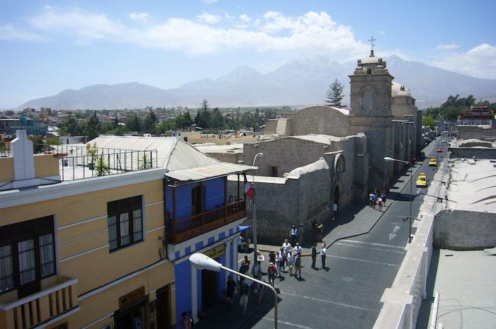 屋上から見るアレキパの街