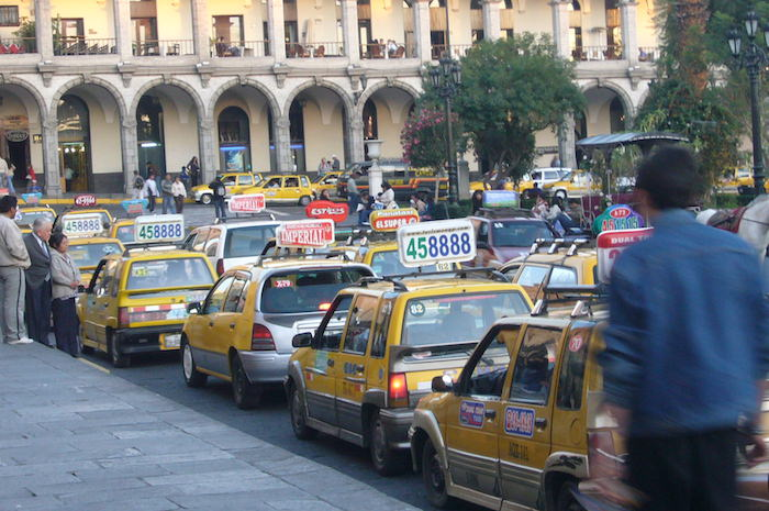 アレキパのタクシー