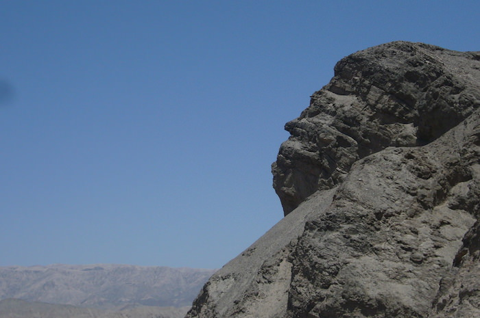 インカ人の顔に見える岩