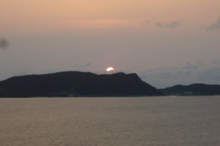 渡嘉敷島の夕焼け
