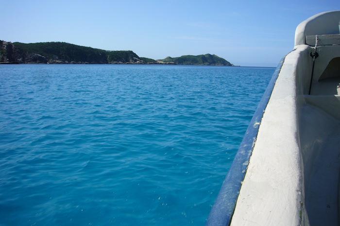 海の色が綺麗