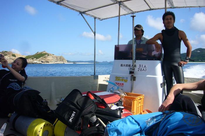 マリンハウス阿波連のダイビングボート