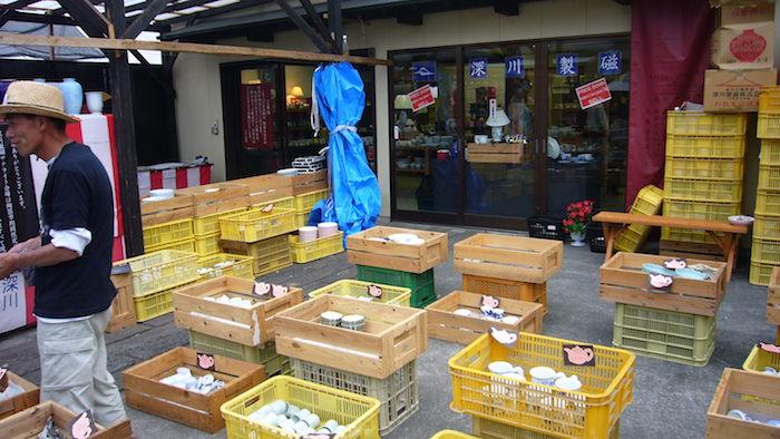 有田陶器市で深川製磁のお店