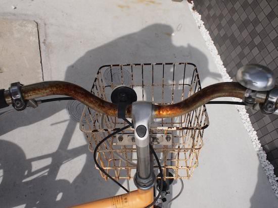 無印良品 MUJIの自転車 錆だらけ