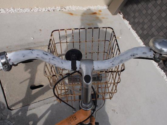 自転車の錆を木工用ボンドで簡単に取る