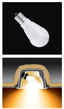 斜め取り付けで断熱材施工器具に対応したダウンライト