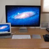 MacBook AirとThunderbolt Displayでデュアルディスプレイ