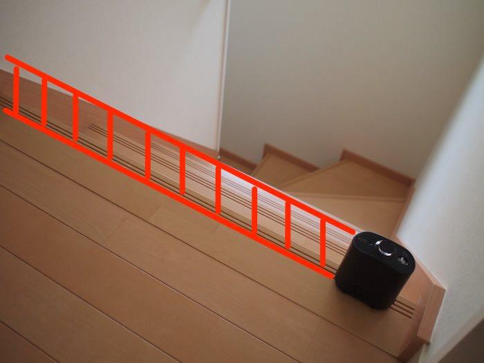 ルンバ階段落下防止にバーチャルウォールを設置