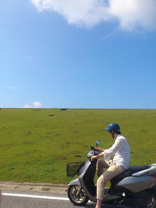 与那国島でレンタルバイク