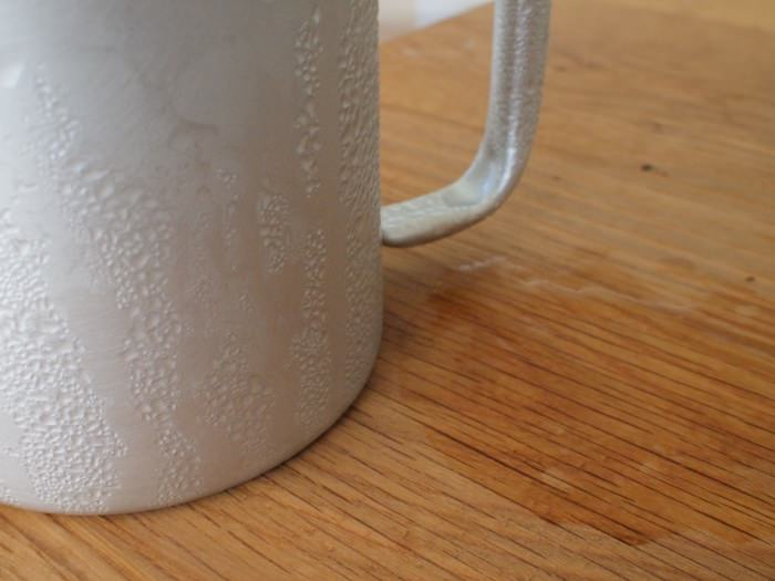 アルミマグカップの結露