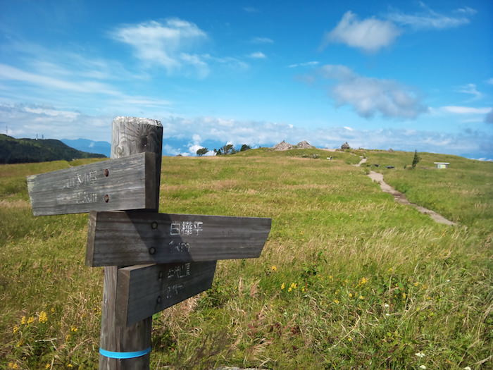 牛伏山の山頂方面
