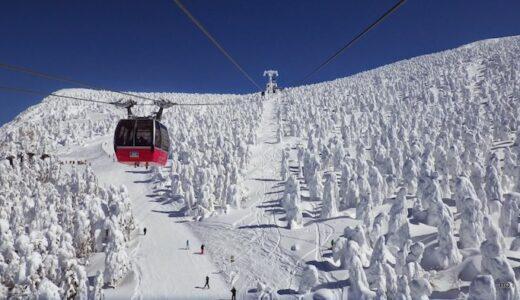 初の蔵王温泉スキー場。快晴で見た樹氷原が絶景でした。