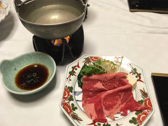 夕食(牛しゃぶしゃぶ)