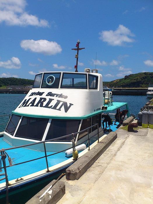 与那国島ダイビングショップ「マーリン」の船