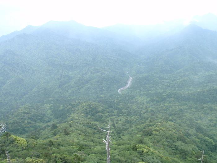 太鼓岩からのパノラマ展望 - 白谷雲水峡トレッキング