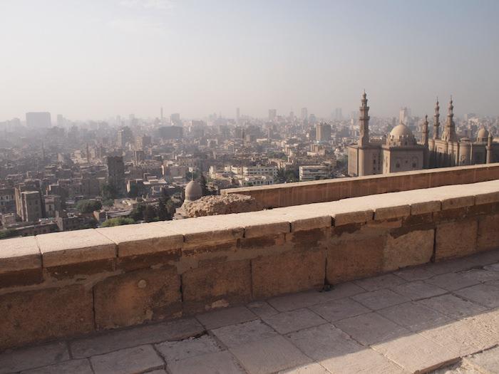 高台から見渡すカイロの街