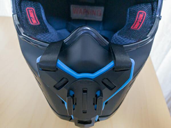 TELESIN ヘルメットマウントの装着イメージ